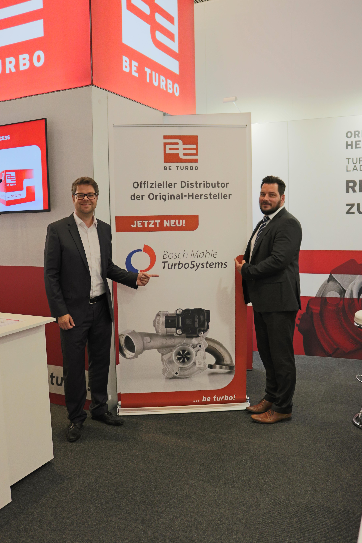 Mark Timmermeister von BE TURBO und Dirk König von MAHLE Aftermarket GmbH (v. L. n. R)